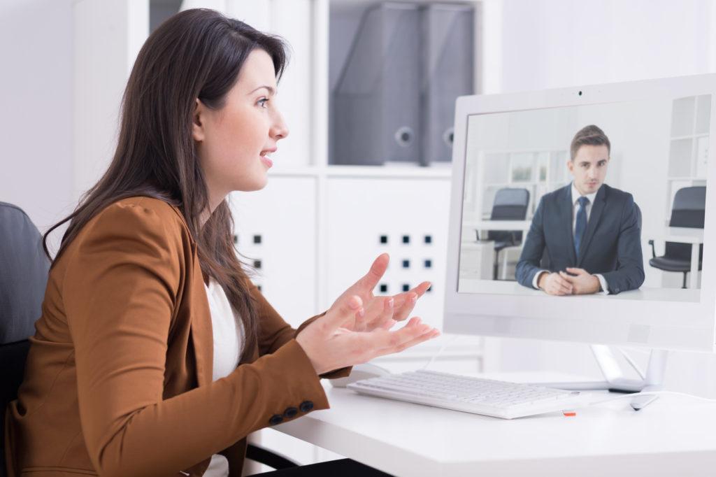 Consultation de psychothérapie par webcam