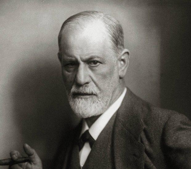 Sigmund Freud, founder of psychoanalysis, smoking cigar, 1922  Photo by Max Halberstadt